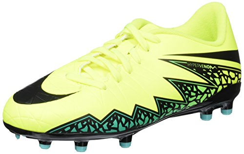Nike Unisex-Kinder Jr Hypervenom Phelon Ii Fg Fußballschuhe, Amarillo (Volt / Black-Hyper Turq-Clr Jade), 38 EU