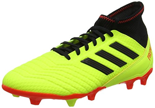 Adidas Predator 18.3 FG, Zapatillas de Fútbol para Hombre, Amarillo (Neongelb/Rot Neongelb/Rot), 42 2/3 EU