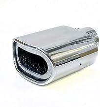 Boloromo 6204 - Silenciador universal para tubo de escape de acero inoxidable, cromado