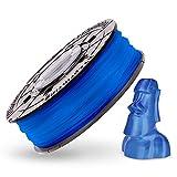 XYZ Printing RFPLCXEU05E Bobina de Filamento de PLA de diámetro 1.75 mm, Azul Transparente