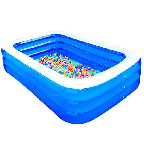 WEIJINGRIHUA Swim Centre Family Pool Rectangular,deep Paddling Pool for kids,garden swimming pool inflatables,Fast Set for Summer Party. (Size : 2.6m)