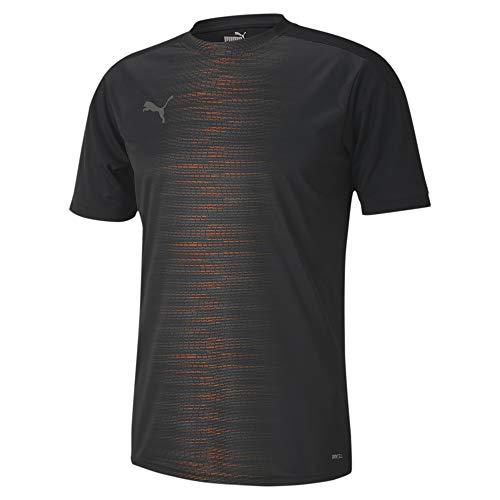 PUMA Ftblnxt Pro tee Camiseta, Hombre, Black/Shocking Orange, M