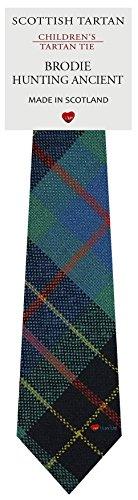 I Luv Ltd Garçon Tout Cravate en Laine Tissé et Fabriqué en Ecosse à Brodie Hunting Ancient Tartan