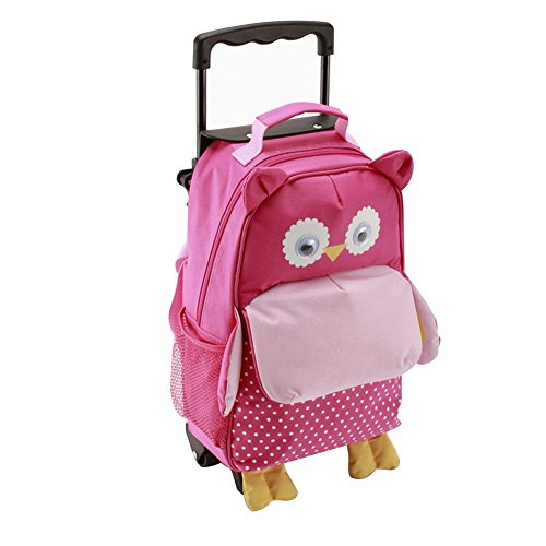 Yodo Zoo 3-Way Kids Suitcase Luggage or Toddler Rolling Backpack with wheels,Small Owl