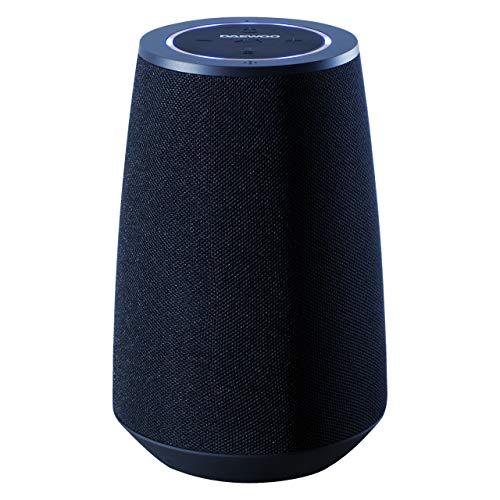 Daewoo Voice Assistant Altoparlante Bluetooth, compatibile con Siri e Google Assistant, 5 W Potente uscita audio, microfono vivavoce per comandi vocali e chiamate, leggero e portatile (blu)