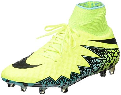 Nike Herren Hypervenom Phantom II FG Fußballschuhe, Amarillo (Amarillo (Volt/Black-Hyper Turq-CLR Jade), 39 EU