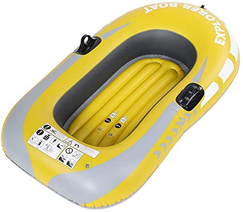 LVYE1 MRMF Kayak Inflable, Bote De Pesca Inflable De PVC para 1 Persona, Canoa, Kayak, con Paleta Y Bomba De Aire Manual
