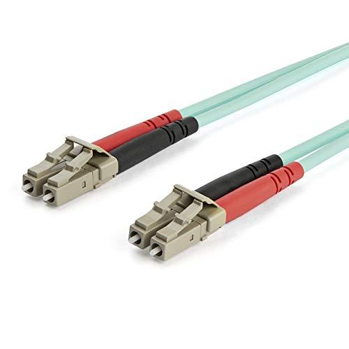 Glasvezel-patchkabel Multimode-LC op LC Duplex 50/125 OM3, 7 m, 40/10 GB, turquoise, LSZH (450FBLCLC7), 10 GB