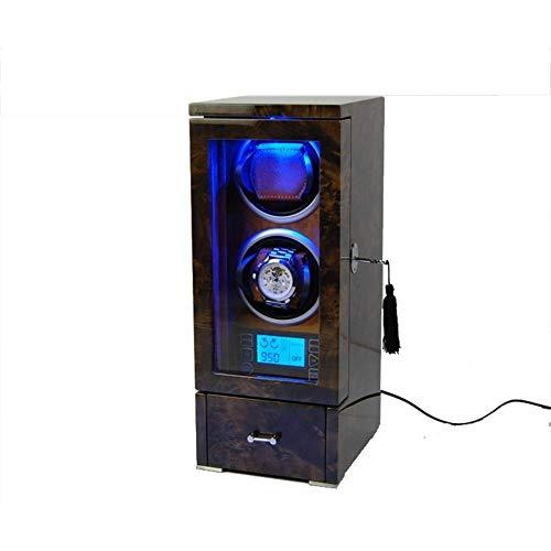 GUOCAO 2+0 Automático de Madera de la Caja de la Rotación de los Bobinadores de la Pantalla Digital Premium Silencioso Motor de la Caja de Almacenamiento de la Pantalla