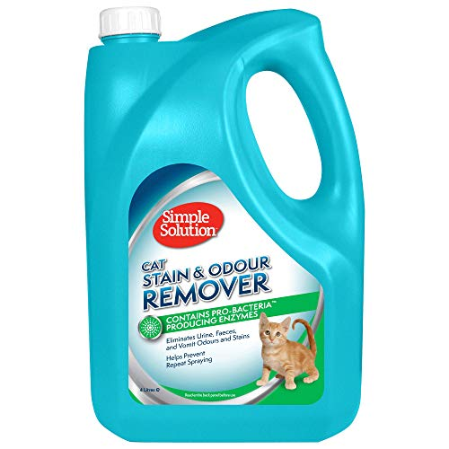 Simple Solution removedor de Manchas y olores de Gato, 4 L