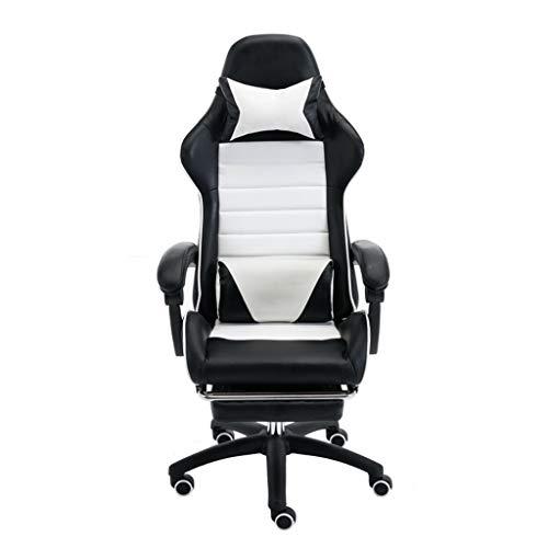 MENA Uk Home Office Work Lounge Chair, Bequemes Pu-Material, Frei Drehbar, VerschleißFestes Mute-Anti-Rutsch-Rad, Stilvoller Weicher Elektrischer Gaming-Stuhl