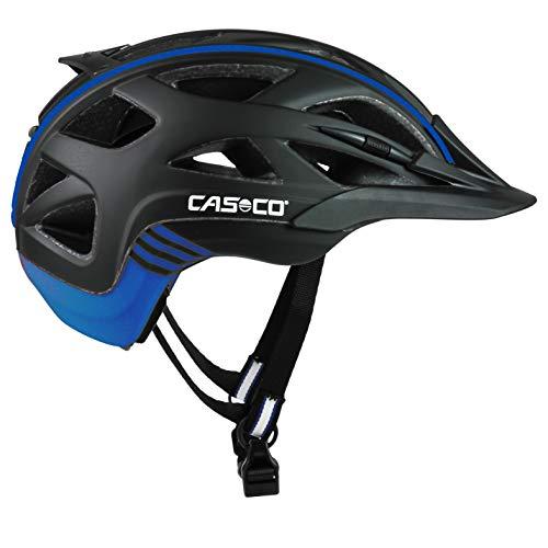 Casco Erwachsene Active 2 Fahrradhelm, Mehrfarbig (Mehrfarbig (schwarz-Blau), M (56-58 cm)