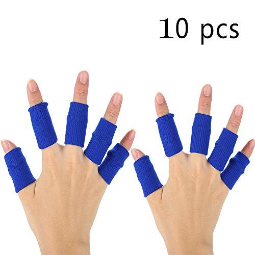 XDSP Protector elástico para Dedos, Protector de Dedos, Protector Elástico Vendas Bandas Finger Guard para Baloncesto Voleibol Bádminton (Blue)