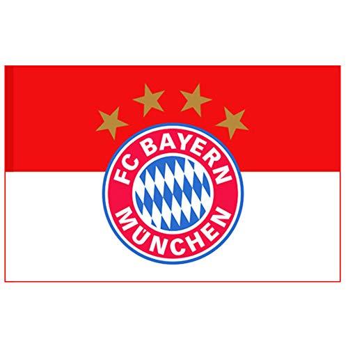 Bayern Munich Official Bundesliga Crest Flag 100 Polyester