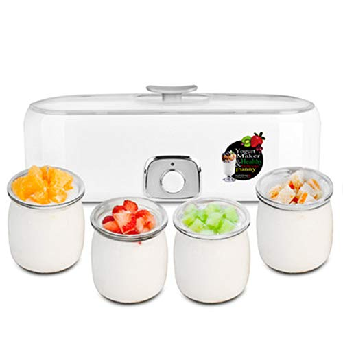 Buy Discount WJ Yogurt Maker Automatic Yogurt Machine with 4 Glass Greek Jars, Food Grade Materials,...