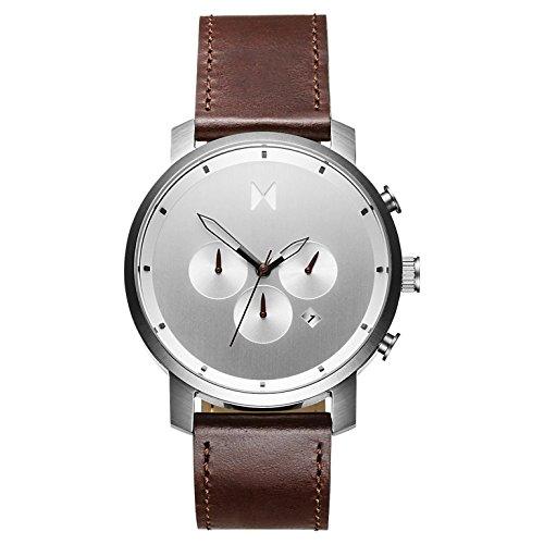MVMT Herren Chronograph Quarz Uhr mit Leder Armband D-MC01-SBRL