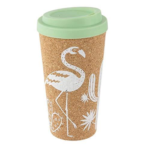 Pick and Drink Mug de Transport en liège Exotic - 450 ML - Vert d'eau