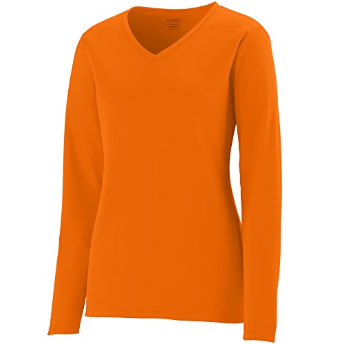 Buy Augusta Sportswear Women's Long Sleeve Wicking T-Shirt XL Power Orange