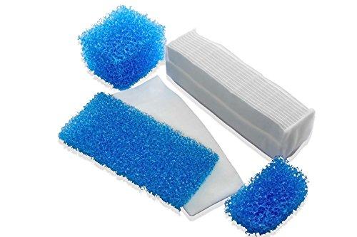 vhbw 5-teiliges Filterset wie 787203 für Thomas Twin T2 Aquafilter Staubsauger, Hepa, Motor, Mikro, Schaumstoff und Nass Filter