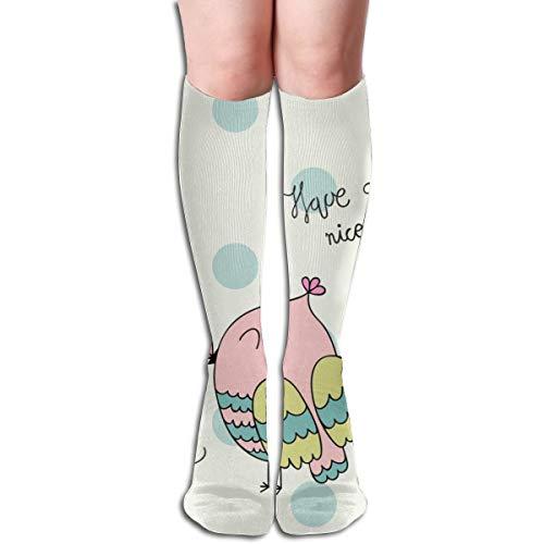 fgjfdjj Mädchen Tube Socken Cartoon Baby Owls Knie hoch Fußball Fußball Volleyball Baseball Cheerleading Teens Team Socken