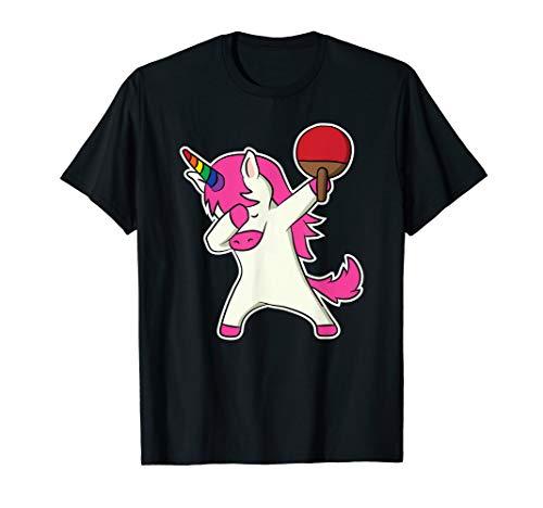 Lustig Tischtennis Dabbing Einhorn Shirt Tischtennis Spieler T-Shirt