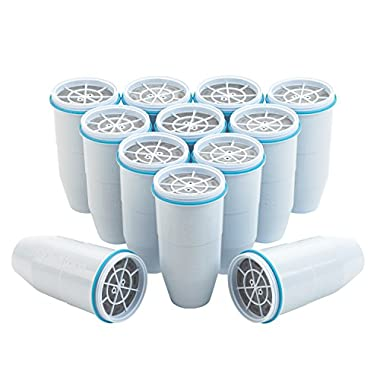 ZeroWater, Replacement Filters, 12-Pack, BPA-Free Replacement Water Filters for ZeroWater Pitchers and Dispensers, NSF Certified to Reduce Lead and Other Heavy Metals