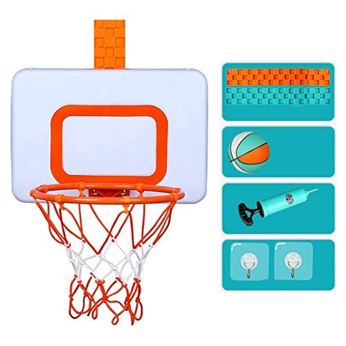 YWAWJ Basketballkorb Basketball-Spielzeug-Set, Kinder Hängen Basketball Board Mini Basketball Brett, Stand Indoor Outdoor Home Office Wand Basketball