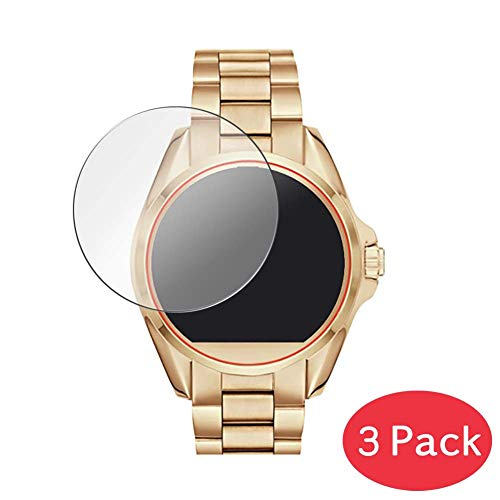 [3 Pack] Synvy Tempered Glass Screen Protector for Michael Kors Access Bradshaw 9H Protective Screen Film Protectors Smartwatch Smart Watch