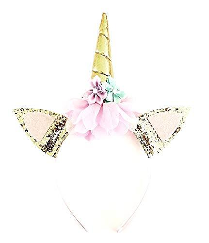 Eenhoornhoornhoofdband - haar - accessoires - vermomming - carnaval - halloween - uitstekende kwaliteit - volwassenen en kinderen - model 3 - origineel idee voor een verjaardagscadeau voor kerstmis cosplay