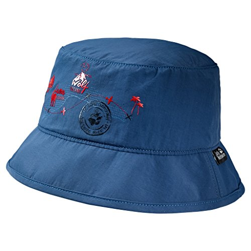 Jack Wolfskin Unisex-Kinder Supplex Journey Hat Kids Hut, Ozeanwelle, S