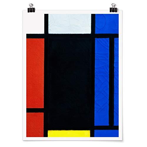 Bilderwelten Poster Wanddeko Kunstdruck Piet Mondrian - Tableau No. 1 Matt 80 x 60cm