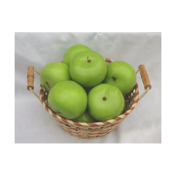 12 Piece Green Apple Decorative Fruit
