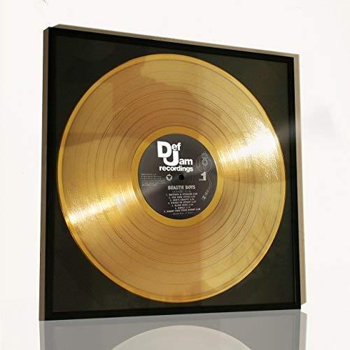 DISC´O´CLOCK Beastie Boys–Licensed to ILL: Bilderrahmen mit Goldene Schallplatte–Idee Geschenk für Fans der Beastie Boys