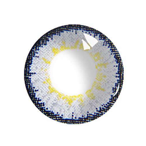 zhouweiwei Bunte Kontaktlinsen EIN Paar runde Augenlinsen Schüler Schüler Augapfel für Augen Dauerhafte Augapfel-Kontaktlinsen