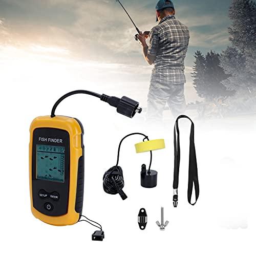 CUTULAMO Sonar buscador de Peces, multifunción LED Blanco buscador de Peces portátil para Pesca en el mar