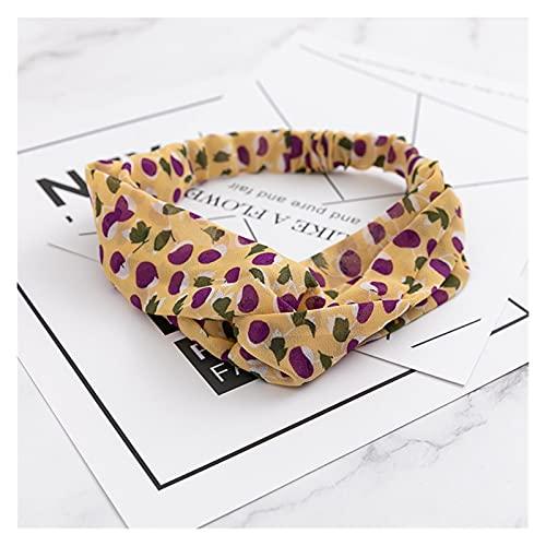 2021New Women Bohemian Print Headbands Vintage Cross Knot Elástico Hairbands Bandanas Girls Bandas de Pelo Accesorios para el Cabello (Color : 4)