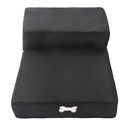 ZHTX Pet-Treppen-Klapptreppen-Boarding-Schritte Neigung rutschfeste Kunststoff-Haustierstufen für kleine Hunde-Haustierrampe (Color : Black)