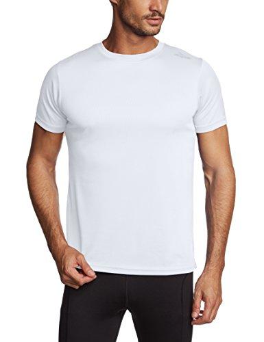 Rogelli Promo - Maglietta da running a maniche corte, da adulto Bianco Bianco M