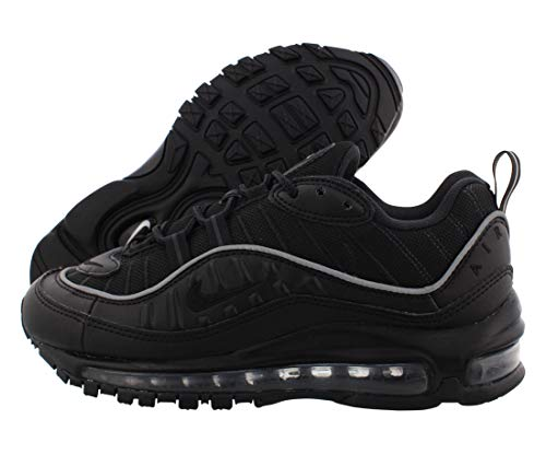 Nike Damen W Air Max 98 Laufschuhe, Schwarz (Black/Black/Off Noir 004), 37 1/2 EU