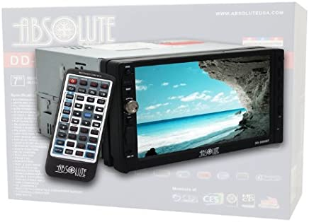 Absolute DD-3000BT 7-Inch Double Din Multimedia DVD Player Receiver with Touch Screen