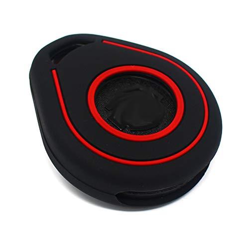 Coque de Protection pour clé de Moto en Silicone Keyless Go Noir/Rouge