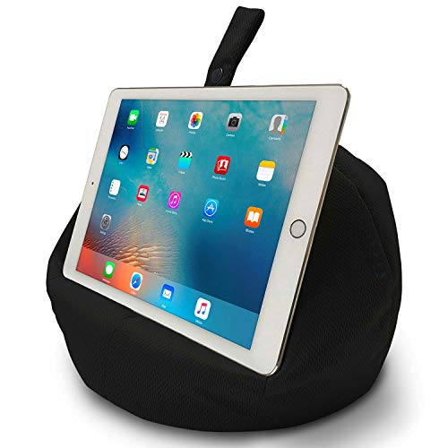 COSY HOLDER - Pumpkin Beanbag Cushion - Tablet & E-Reader (e-book) holder/stand. Ideal for iPad, Samsung Galaxy, Kindle & Books. Holds your device at ANY viewing angle. Ideal for home or travel