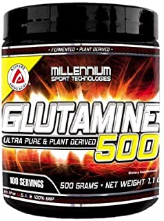 Millennium Sport Technologies, Glutamine-500 (AJIPURE) 100 Servings, 500 Grams.