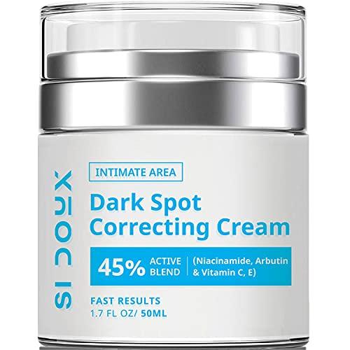 Si Doux Corrector y removedor de manchas oscuras – para su uso en la cara, el cuerpo o áreas íntimas sensibles, lleno de vitaminas y extractos naturales para tratar manchas oscuras, manchas de la edad o manchas solares