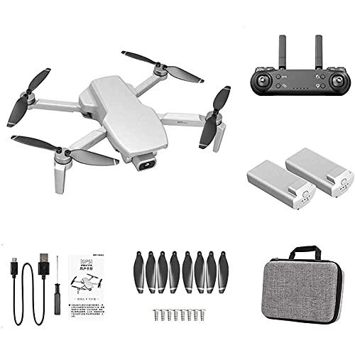 L108 GPS Drone 4K Doppia Fotocamera 5G WiFi Motore Brushless Pieghevole Quadcopter RC Giocattolo per Adulti, Principianti, Bianco, 2 Batterie