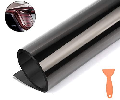 Scheinwerfer Folie Schwarz Tönungsfolie Aufkleber für Auto Scheinwerfer Rückleuchten Blinker Nebelscheinwerfer (120 * 30cm)