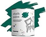 Hemway Racing Green tiza pintura mate acabado de la pared y la pintura de muebles 1L / 35 oz elegante lamentable de la vendimia calcárea (más de 50 colores disponibles)