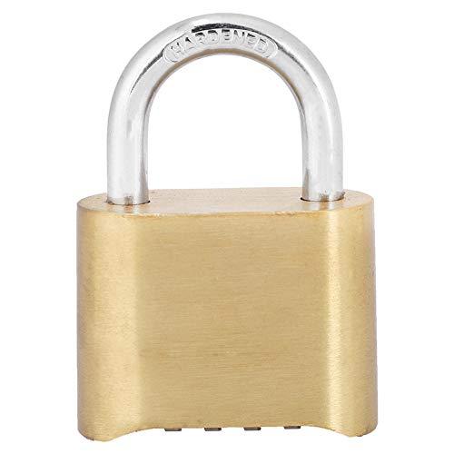 Cerradura de contraseña, 4 dígitos Dail, latón a Prueba de óxido, Cerradura de contraseña, candado de combinación, cerraduras de Puerta de Armario de almacén
