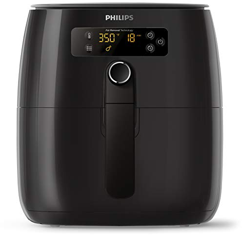 Philips Airfryer Premium Digital Compact with Twin TurboStar Fat Removal Technology, 2.75qt Capacity, HD9741/96