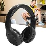 Auriculares Bluetooth, Auriculares inalámbricos Plegables, cómodos de Llevar con un diseño de Forma novedosa para Exteriores o Interiores(Black)